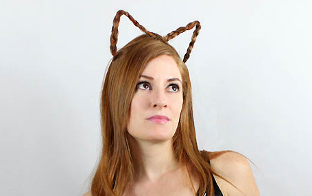braided cat ears for halloween hair
