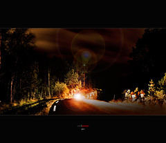 Night Drive (bent inge) Tags: tarmac evening driving nightshot flare windingroads nikond700 bentingeask