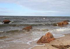 Waves from Long Island Sound Breaking on Glacial Erratics (sandy richard) Tags: usa newyork unitedstates geology wildwood wadingriver wildwoodstatepark sandyrichard longislandgeology sandrarichard