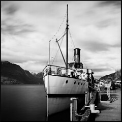 The Earnslaw (Seriously People) Tags: fuji hasselblad steamship ilford acros 503cx pquniversal 60mmcf theearnslaw theresghostsifyoulook