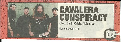10-24-11 Cavalera Conspiracy/Otep/Earth Crisis/Nuisance @ St. Paul, MN
