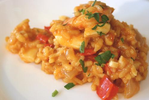 Arroz a la Cazuela (Spanish style Seafood Risotto)