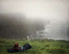 lost in my mind (manyfires) Tags: ocean ireland sea mist selfportrait texture me fog self landscape cliffsofmoher atlanticocean countyclare lostinmymind theheadandtheheart duringmuchofthetrip rainproofpantswereprettymuchmandatory