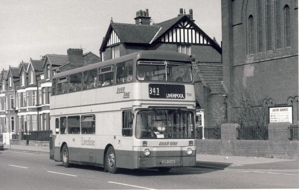 North Western 708 ex Liverline, Hyndburn, Plymouth, Bootle 080495 B271_6_6