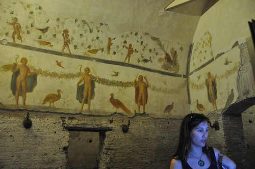 Frescoes in Case Romane