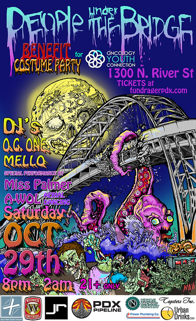 October 29: Portland Halloween Costume Party | Fire Dancers, Aerial Performers, Music, & Benefit For Oncology Youth Connection