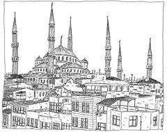 Turquie, Istanbul (pirlouit72) Tags: turkey sketch drawing dessin turquie croquis