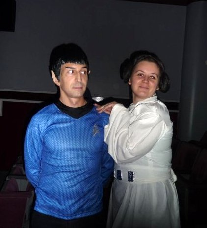 leia with spock