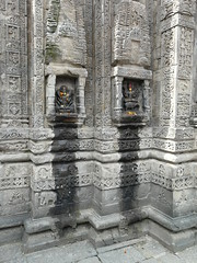 Oil offerings dripping down the temple walls