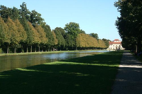 Blick auf den Kanal  - Schloß Oberschleißheim