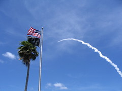 Contrail and Flag