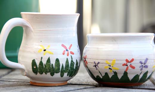 hnd painted ceramics