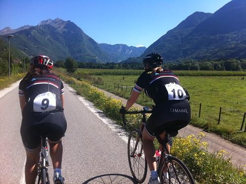Riding towards the final mountains