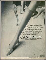 Cantrece - 1965 (rchappo2002) Tags: life stockings fashion magazine 60s legs ad advertisement 1960s nylon sixties 1965 adverts