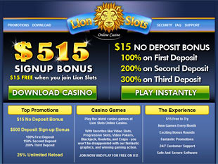 Lion Slots Casino Home