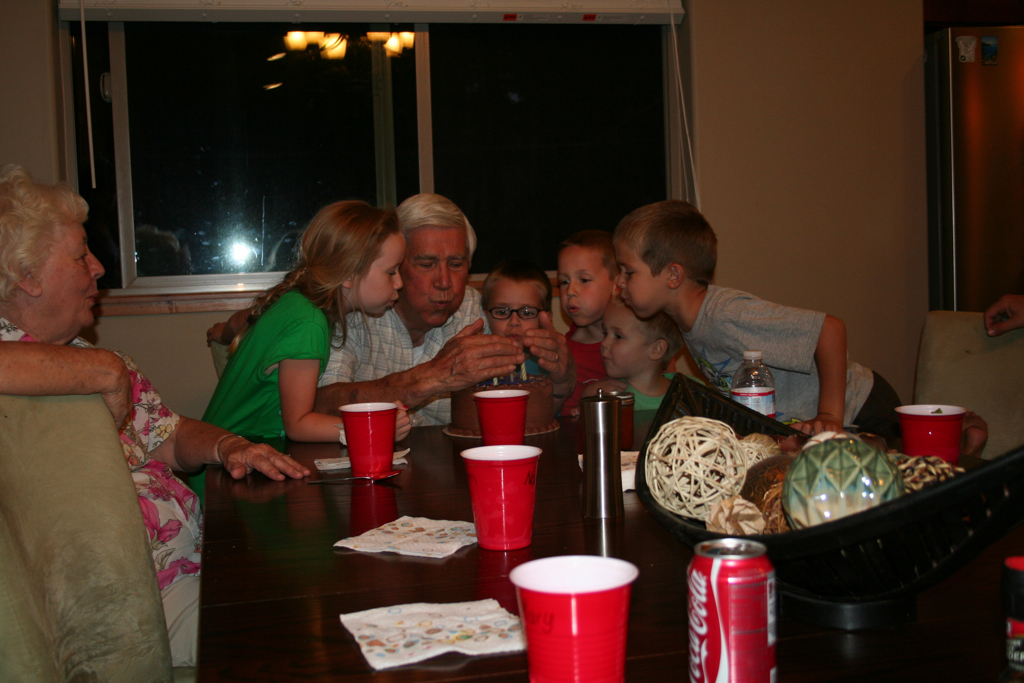 Grandpa and all his great-grandkids