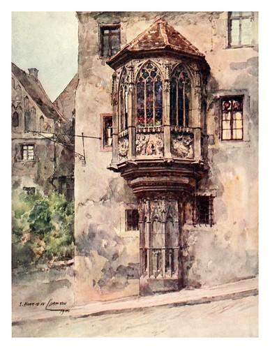 010-Balconada de una casa en Nuremberg-Germany-1912- Edward y Theodore Compton ilustradores