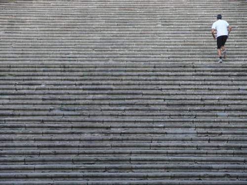 girona - escalera catedral