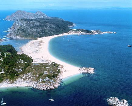 Vista de las Islas Cíes: Playa de Rodas