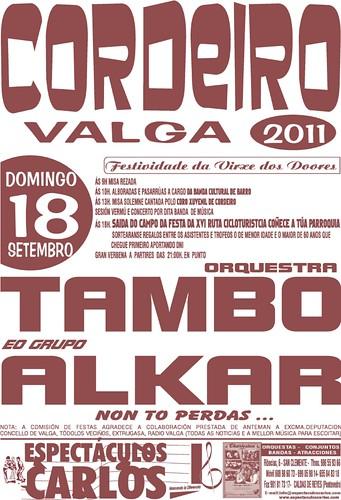 Valga 2011 - Festa da Virxe das Dores en Cordeiro - cartel