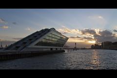Reflection (HammelHugo) Tags: reflection water canon germany harbor wasser sonnenuntergang sundown hamburg 1750 28 tamron hafen reflexion vc elbe 50d