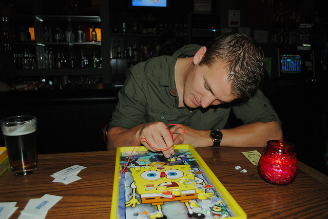 sponge bob operation at a bar