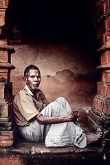 CREATIVE COMMON (debjani_click) Tags: orange india man festival rural temple common potrait bishnupur jhapan