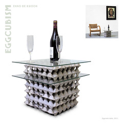 Egg crate table (Enno de Kroon) Tags: glass topv2222 trash paper de table design recycled contemporary interior kunst recycledart papel recycling reciclagem mueble tavola tafel ovos bandejas reciclaje eggbox eggcrate afval ricreazione rcupration eggtray glasstop trashion recycleddesign eierdoos ennodekroon recycledartist rcupart trashreuse cartonesdehuevos hueveras luf eggflats cartonidelleuova recyclagem artrecycl eggcartonart eggtrayart   eggboxfurniture eggboxtable mueblesdepapel eggcartonpainting afvalkunst afvalkunstenaar eggcartonfurniture eggcartondesign embalagemdeovos    cubetasdecartonparahuevos