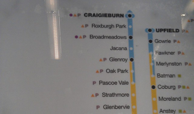 POTD: Coolaroo missing from Metro map