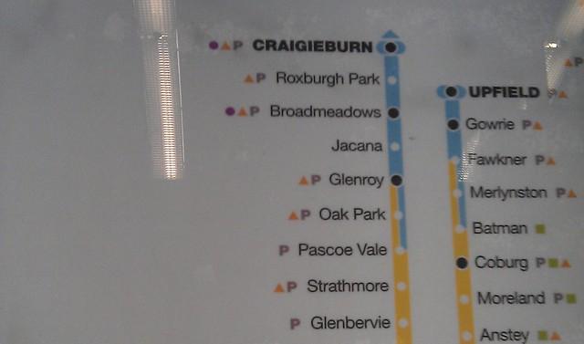 POTD: Coolaroo missing from Metro map