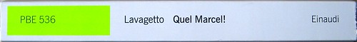 Mario Lavagetto, Quel Marcel!; Einaudi 2011. [resp. grafica non indicate], alla cop.: Claude Monet, Ninfee, 1916-19/Musée Marmottan Monet/Foto Lessing-Contrasto. Dorso (part.), 1
