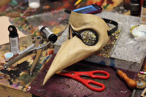Distressed Handmade Leather Plague Doctor Mask