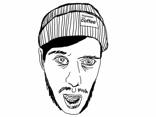 Digital crapstyle self portrait.