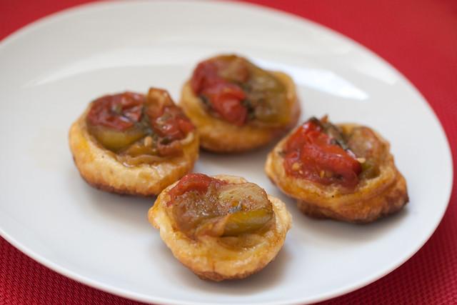 Mini tatins de tomates