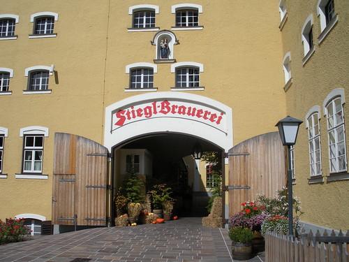 Entrance to Stiegl Brauwelt Salzburg Austria