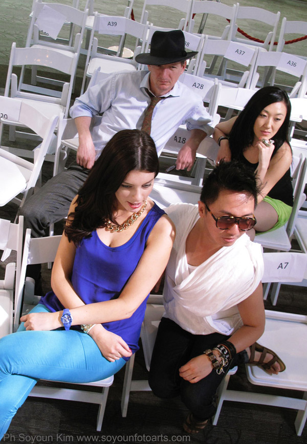 Judges Cosmopolitan Model Search, pageant expert Peter Sereno, Fashion Photographer Kent Johnson, Natasa Colo Fashion Stylist and Rebecca Lau online fashion retailer