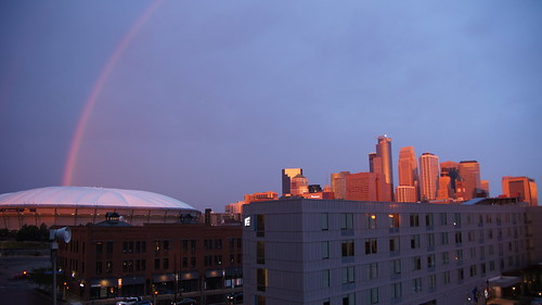 Rainbow Over the Metrodome