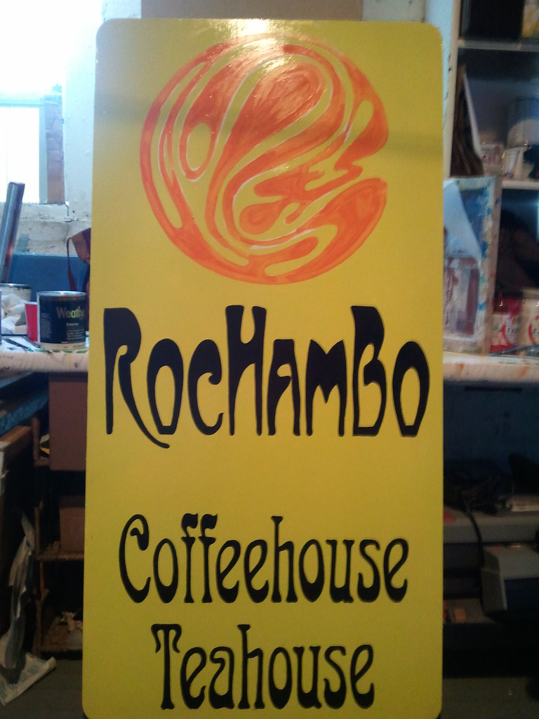 (RocHamBo} handpainted sign!