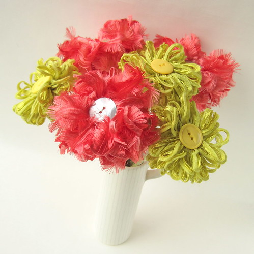 New ffflowers - coral and lime