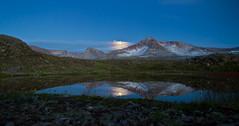 Á leið í Djúpavík (icecold46) Tags: iceland tjörn kvöld speglun fjall strandir blár tunglsljós fókusferð háafell