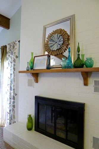 Full Fireplace with Map