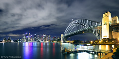 Night Sydney Panorama (-yury-) Tags: city panorama night landscape cityscape sydney australia nsw cbd operahouse harbourbridge sydneyharbour
