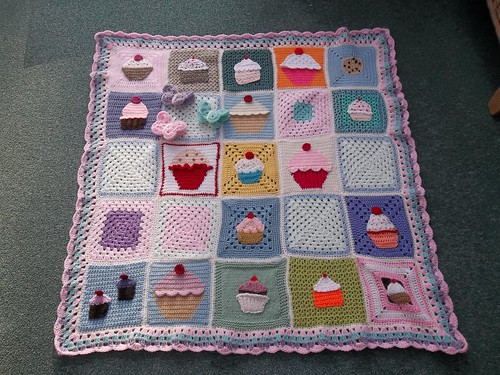 Thank you to all the Ladies who have contributed to the 'Cupcake Blanket'. 'Please add note if you see your Square'. I love your Squares Thank You!