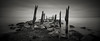 Last Known Surroundings (Jeff Gaydash) Tags: longexposure blackandwhite panorama water seascapes michigan greatlakes photomerge lakehuron lakescapes tiltshift