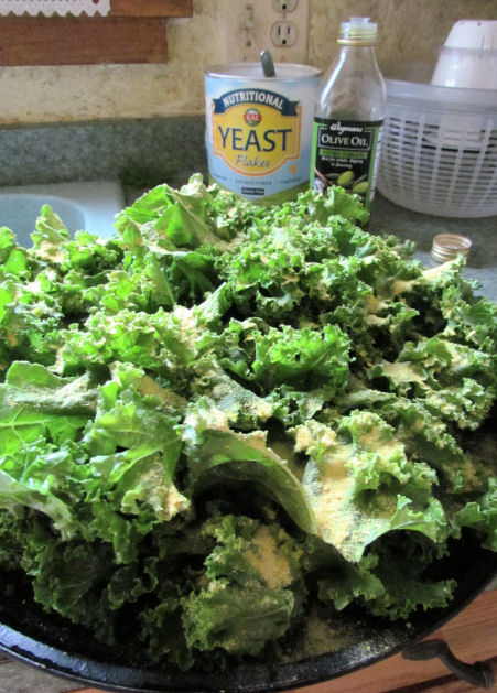 Pile O' Kale with olive oil and nutritional yeast