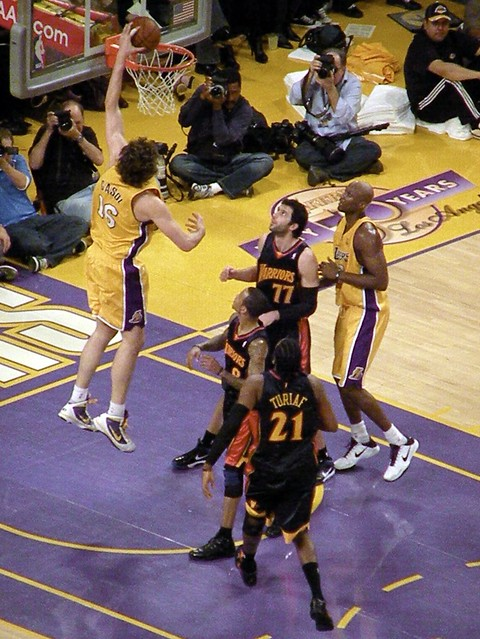 Pau Gasol Drops it In