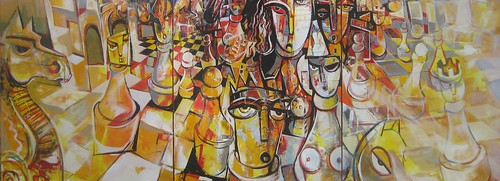 Checkmate - Painting - Cubism
