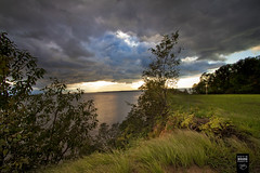 Storm Clouds on the Chesapeake Bay (crabsandbeer (Kevin Moore)) Tags: sunset sky lighthouse storm nature weather clouds landscape bay wind dramatic maryland cliffs chesapeake turkeypoint supercell cecilcounty elkneck