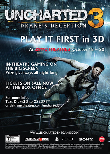 UNCHARTED 3 at AMC Theaters