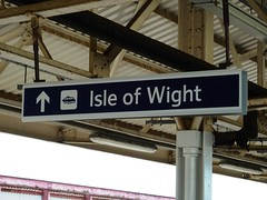 Isle of Wight this way (Richard and Gill) Tags: station sign notice isleofwight southwesttrains stagecoach wight swt iow nationalrail portsmouthharbour